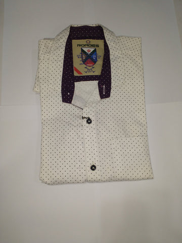 White Color Cotton Men's Shirt - Fashiontree05