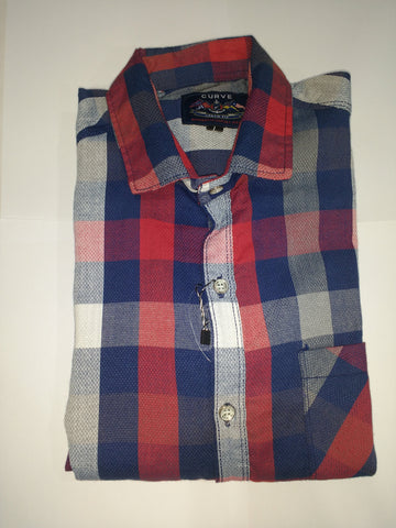 Red Color Cotton Men's Shirt - Fashiontree11