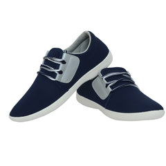 Blue And Grey Color Synthetic Men Shoes - Fighter-NavyGrey