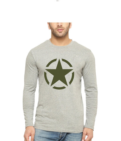 Grey Color Cotton Mens Tshirt - Fullgrey-639