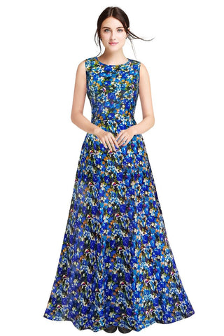 Blue Color Heavy Banglory Silk Women's Gown - G-113_Rajwadi_Blue