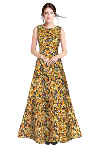 Yellow Color Heavy Banglory Silk Women's Gown - G-115_Rajwadi_Yellow