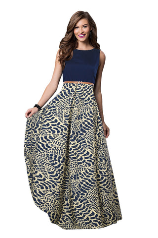 Chiku Color Crepe Women's Gown - G-23_Tiger_Chiku
