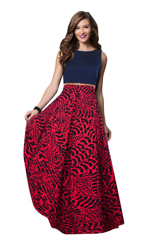 Gajari Color Crepe Women's Gown - G-24_Tiger_Gajari