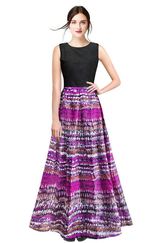 Purple Color Cotton Women's Gown - G-27_Vista_Purple