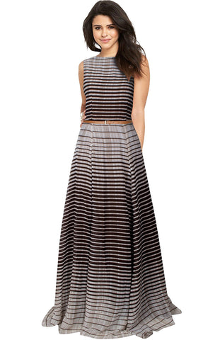 Coffee Color Georgette Women's Gown - G-43_Decent_coffee