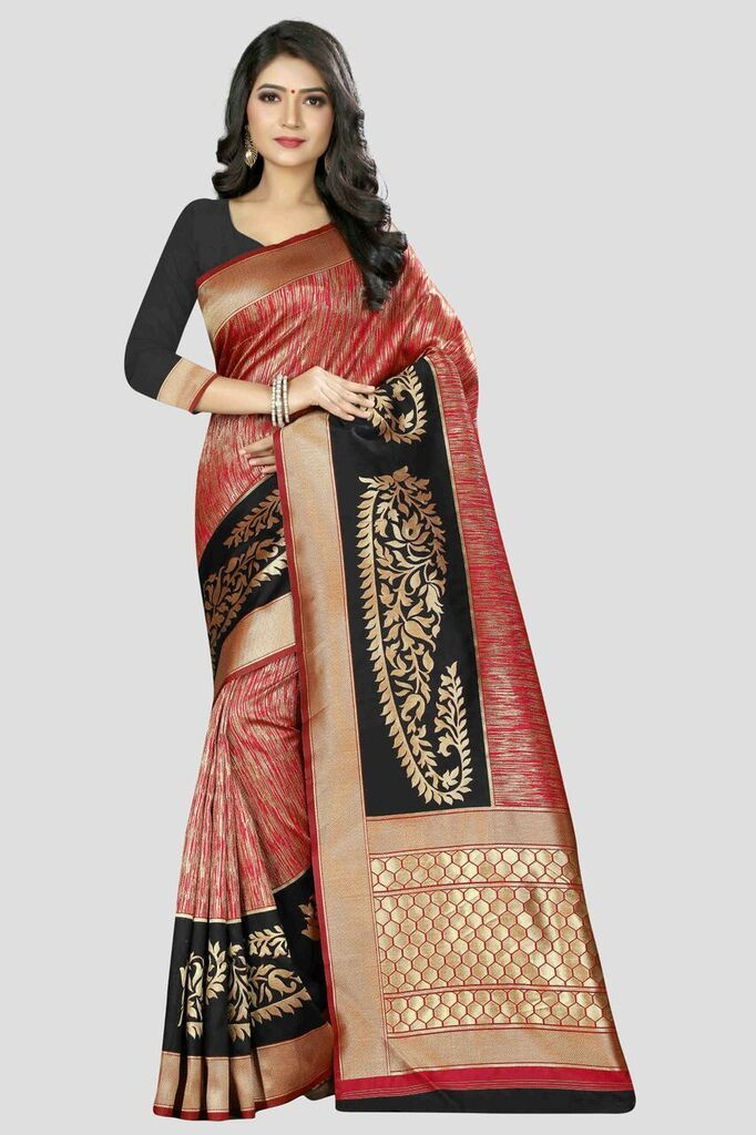 Buy Multi Color Banarasi Silk Women's Zari Work Saree