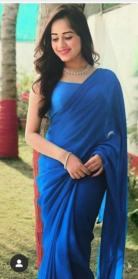 Blue Color Georgette Saree with Blouse - GCF-BLUE-SAREE