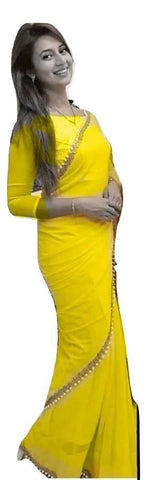 Yellow Color Georgette Saree - GCF9