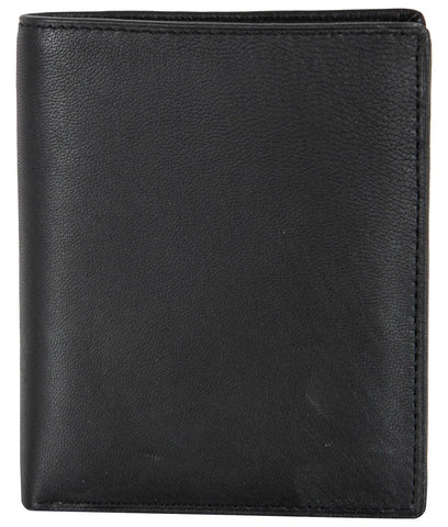 Black Color Genuine Leather Mens Wallet - GE503