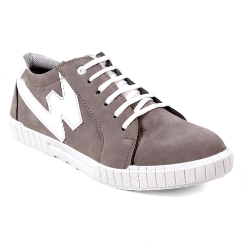 BROOKE White Color Synthetic Men Casual Shoes - GREY-WHITE-SAVARLOAN