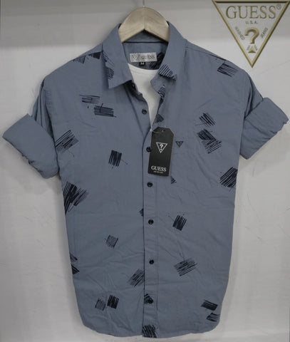 Grey Color Pure Cotton Men's Shirt - GS-01
