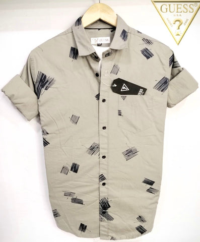 Gray Color Pure Cotton Men's Shirt - GS-03