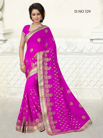 Rani Color Georgette Saree - GS-329