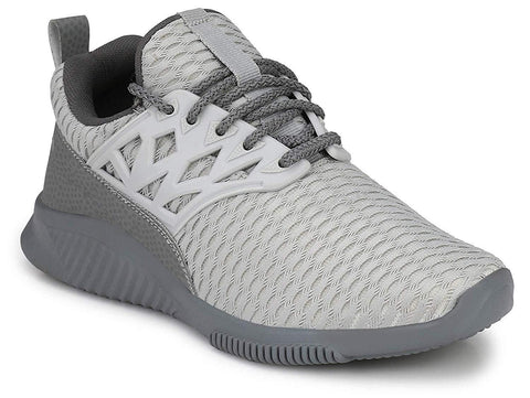 Grey Color Mesh Men Shoe - Grey-Nitro