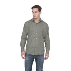 Buy Grey Color Cotton Blend Slim Fit Shirts