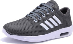 Buy Grey Color Mesh Running Shoe