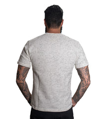Grey Melange Color 160 GSM And Cotton Mens Tshirt - CapsulaLazy