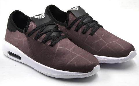 Grey Color Lycra Men Shoe - Greymakdi