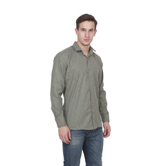 Grey Color Cotton Blend Slim Fit Shirts - Grey-shirtsNew