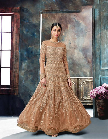 Coco Color Butterfly Net Semi Stitched Salwar - Gulnaaz-7073