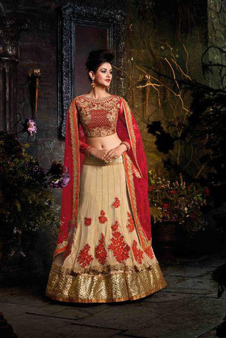 Chiko Color Georgette Semi Stitched Lehenga - HL-4555
