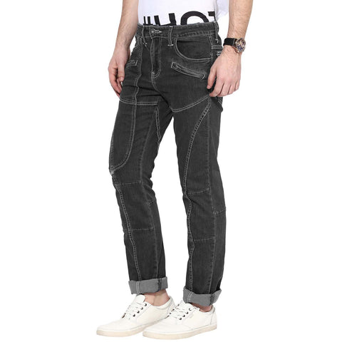 Black Color Organic Cotton Men Jeans - HMO-IndigoRinseDark