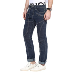 Blue Color Organic Cotton Men Jeans - HMO-IndigoRinse