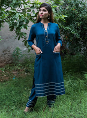 Buy Blue Color Rayon Women's Stitched Kurti