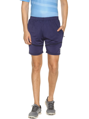 Navy Blue Color 4 Way Lycra Men's Short - HPS-HPSTEE14