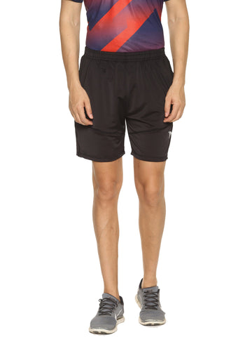 Black Color 4 Way Lycra Men's Short - HPS-HPSTEE16