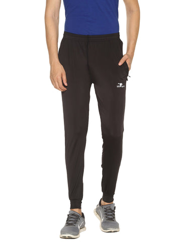 Black Color 4 Way Lycra Men's Track Pant - HPS-HPSTEE17