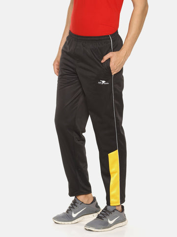 Black Color Polyester Men's Track Pant - HPSBL213