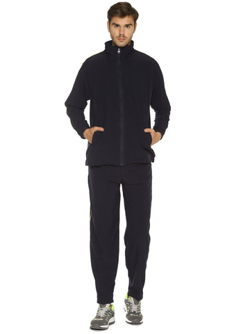 Black Color Lycra Cotton Men's Track Suit - HPSBT82