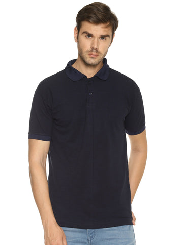 Navy Blue Color  Cotton- Matty Men's Sports Tshirt - HPSNT431