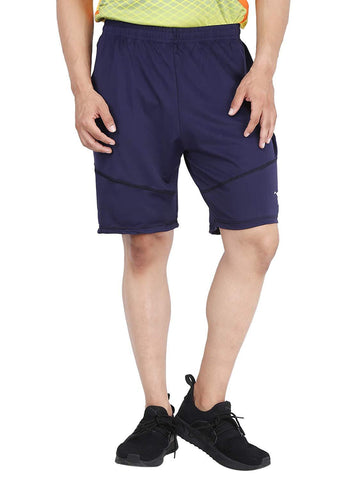 Navy Blue Color Lycra Mens Short - HPSTEE14