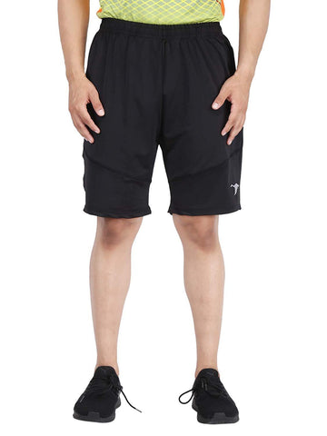 Black Color Lycra Mens Short - HPSTEE16