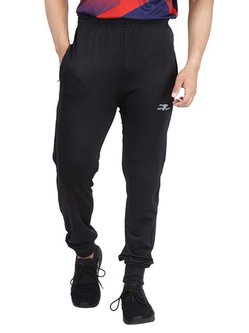 Black Color Lycra Mens Track Pant - HPSTEE17
