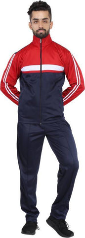 Red Color Poly Cotton Mens Track Suit - HPSTK05