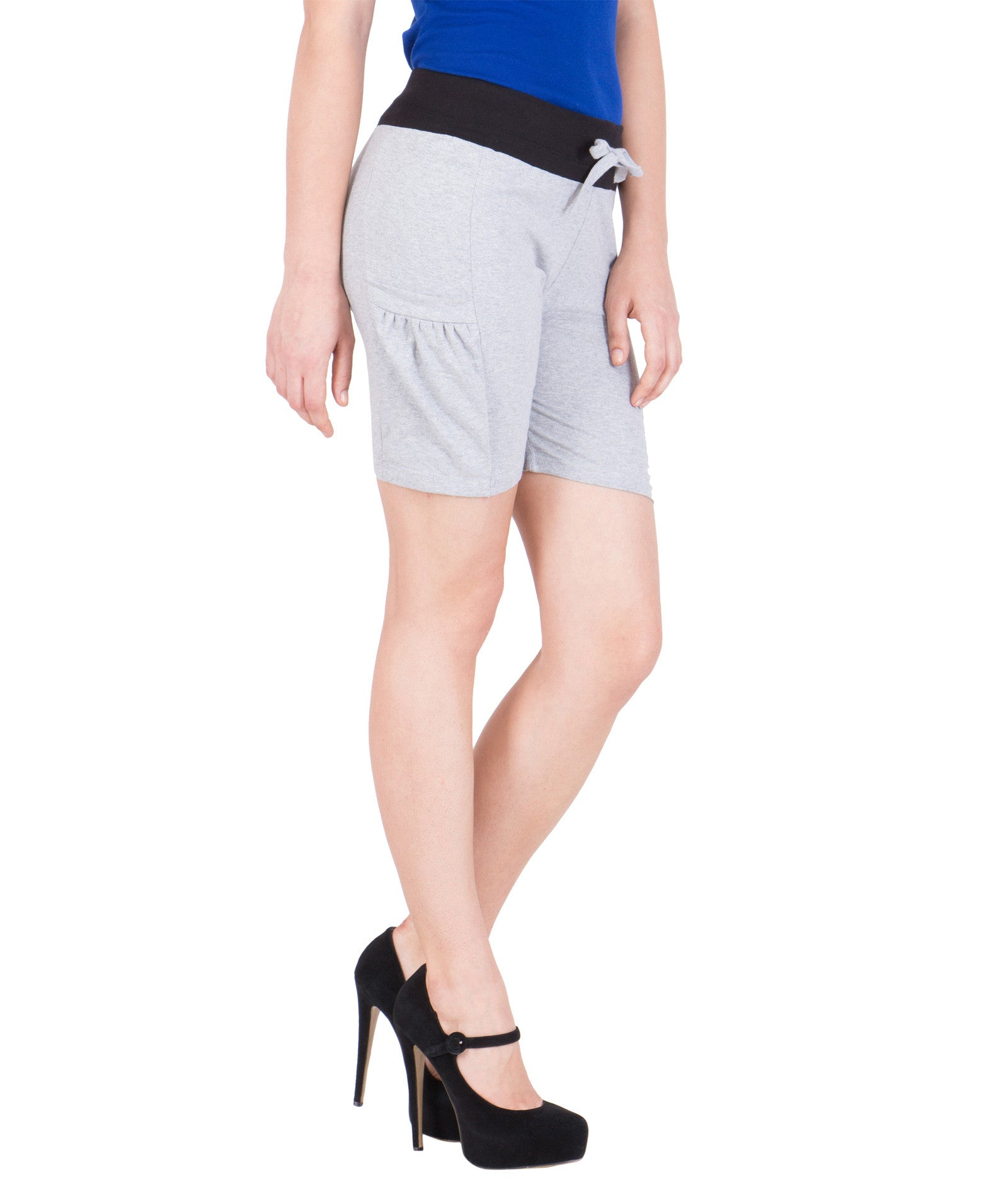 ... AMERICAN ELM-Women s Beautiful Cotton Stitched Shorts - HS-15-Grey-17  ... 48fd122a1