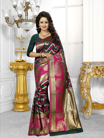 Multi Color Banarasi Silk Saree- HS-775