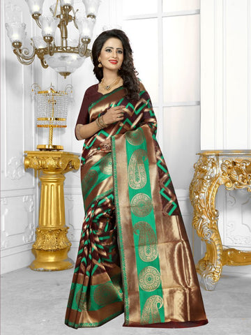 Multi Color Banarasi Silk Saree- HS-776