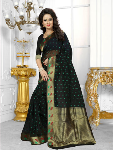 Multi Color Banarasi Silk Saree- HS-782