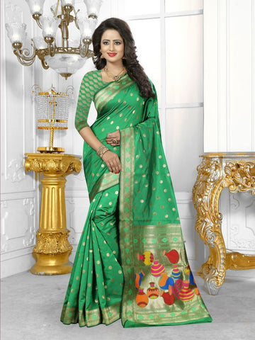 Multi Color Banarasi Silk Saree- HS-788