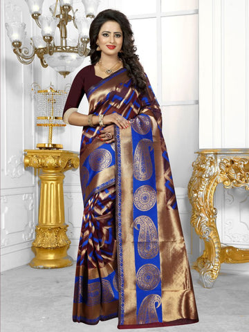 Multi Color Banarasi Silk Saree- HS-789