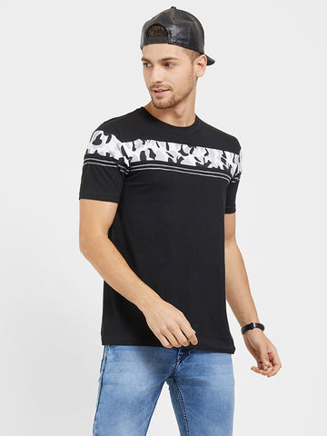 Black Color Cotton Men T-Shirts-HS32BCB