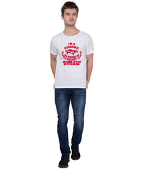 AMERICAN ELM- White Color Cotton  T-Shirt - HSPT-A11RED