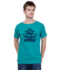 Turquoise Color Cotton T Shirt