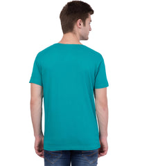 AMERICAN ELM- Turquoise Color Cotton  T-Shirt - HSPT-B11RED