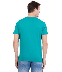 AMERICAN ELM- Turquoise Color Cotton T-Shirt - HSPT-B13RED
